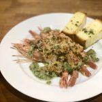 赤海老の香草パン粉焼き サルサベルデ