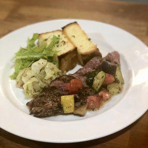 牛肉のグリル 夏野菜ソース