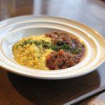 サフラン風味のリゾット 牛肉のトマト煮込み添え〜ミラノ風〜