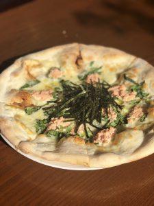 たらこと小松菜のオイルピッツァ